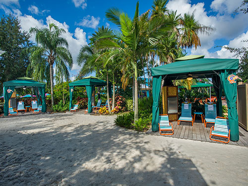Roa's Rapids Cabanas at Aquatica Orlando