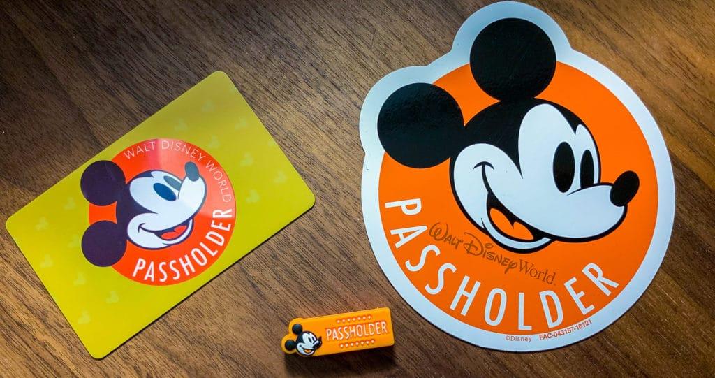 Orange Standard Disney Passholder Magnet
