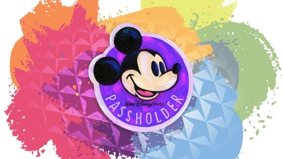 Artful Mickey Disney Passholder Magnet