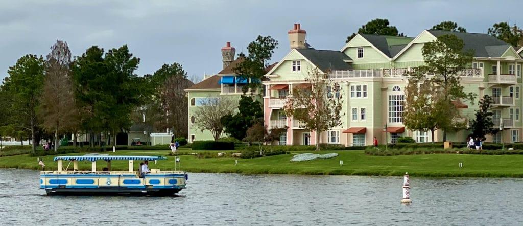 The Sassagoula Boat Company at Disney Springs in the lake.